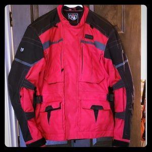 Sz XL red Moto Recon motorcycle jacket